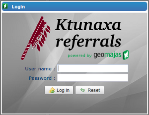 Ktunaxa login window