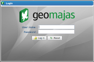 Default Geomajas login window